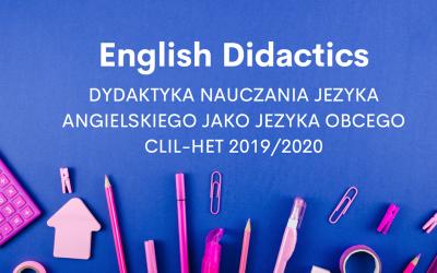 Dydaktyka nauczania języka angielskiego jako języka obcego
