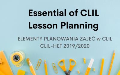 Część 3: Elementy planowania zajęć w CLIL