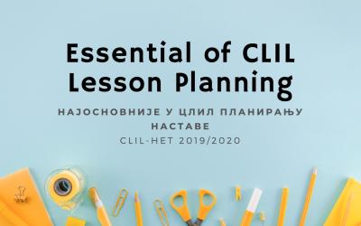 Најосновније у ЦЛИЛ планирању наставе
