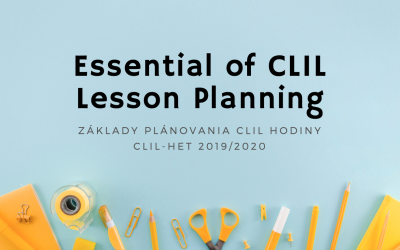 Základy plánovania CLIL hodiny